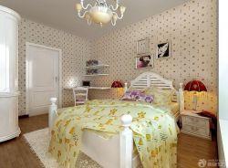 歐式室內裝潢臥室顏色搭配床頭背景墻圖