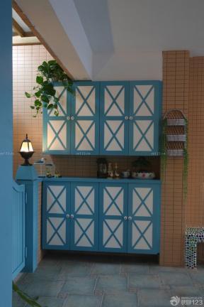 地中海家裝效果圖 玄關裝飾 實木家具