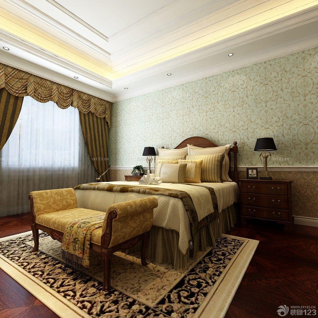 家装效果图 美式 美式主卧室设计效果图 提供者:   ← → 可以翻页