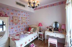 兒童房女孩房間墻面壁紙設計圖片