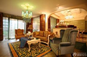 地中海家裝效果圖 客廳裝修實景圖大全 客廳沙發擺放