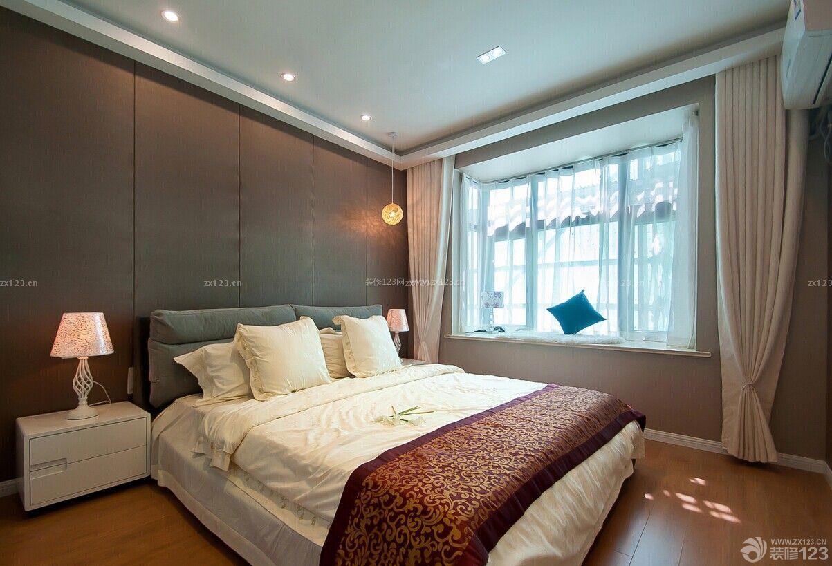 简约风格主卧室飘窗设计图