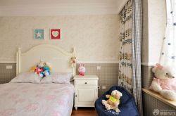 美式家裝兒童房壁紙裝修效果圖片