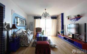 80平米 客廳沙發擺放 布藝窗簾