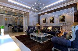 新房客廳組合沙發背景墻裝飾圖大全