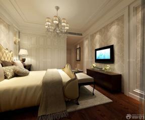 臥室裝修設計 家庭電視背景墻 歐式壁紙