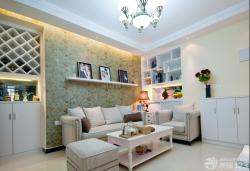 現代客廳沙發背景墻設計圖