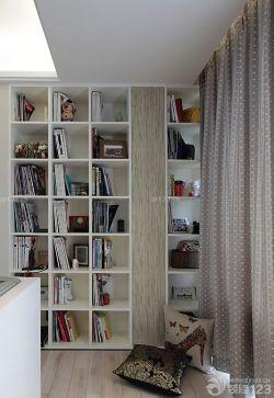 時尚簡潔書柜設計