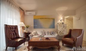 現代歐式風格 不吊頂的客廳 客廳裝潢設計效果圖