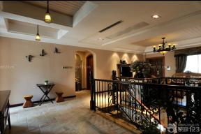 美式家裝效果圖 樓梯設計 樓梯扶手
