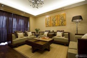 混搭风格客厅效果图 家装客厅 压纹壁纸