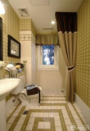 170平米 衛生間設計 格子壁紙 瓷磚拼花貼圖
