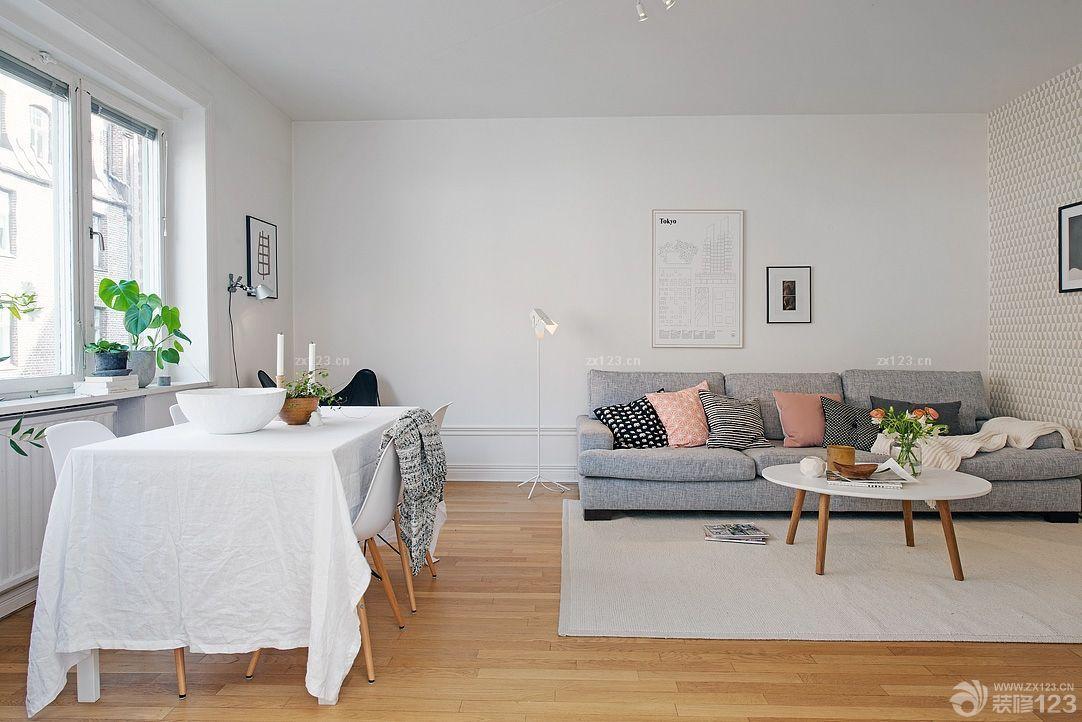 北欧风格卧室床头背景墙设计案例欣赏_装修123效果图图片
