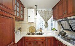 美式原木廚房櫥柜