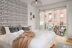 北歐風格臥室床頭背景墻設計案例欣賞