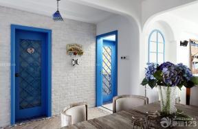 地中海風格建筑圖片 木質門 藍色門