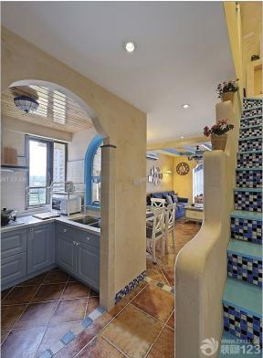 地中海風格建筑圖片 小廚房 廚房門口設計
