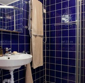 80平米藍色衛生間-每日推薦