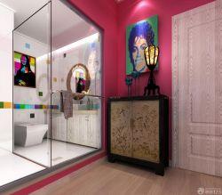 現代風格家裝衛生間玻璃隔斷設計圖片