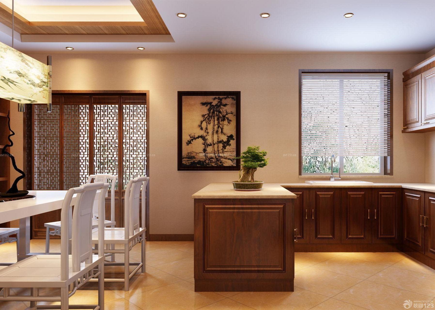 小跃层开放式厨房木质橱柜图