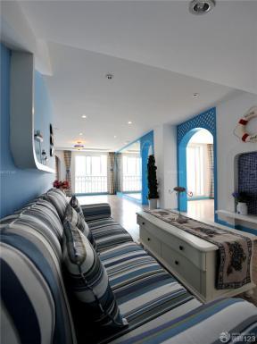 地中海风格装饰 客厅装潢设计效果图 家居客厅装修效果图