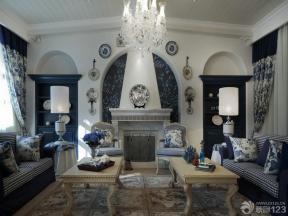 地中海风格装饰 2014家装客厅效果图 客厅装修样板房