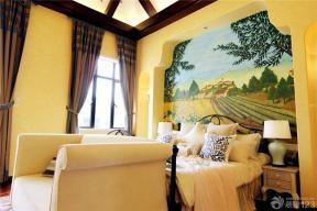 地中海风格装饰 黄色墙面 墙纸图片大全