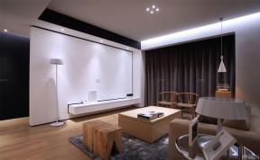 90平米 客廳影視墻 木箱茶幾
