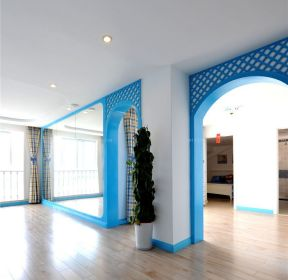 地中海風格藍色門框圖片-每日推薦
