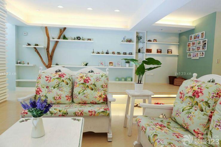 90平米房子欧式田园风格家装客厅设计图片_装修123