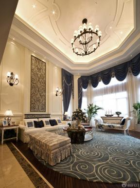 欧式建筑效果图 地毯 天花吊顶图片