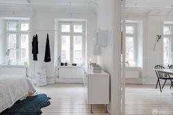 120平米北歐房子白色木地板設計