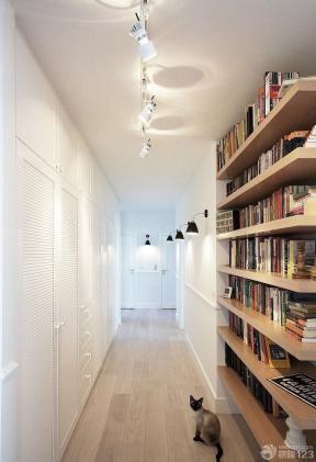 70平方 北歐風格 走廊玄關 書柜設計