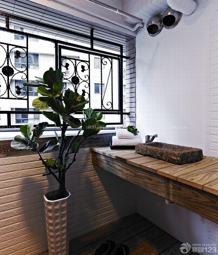110平新古典阳台洗脸池设计图