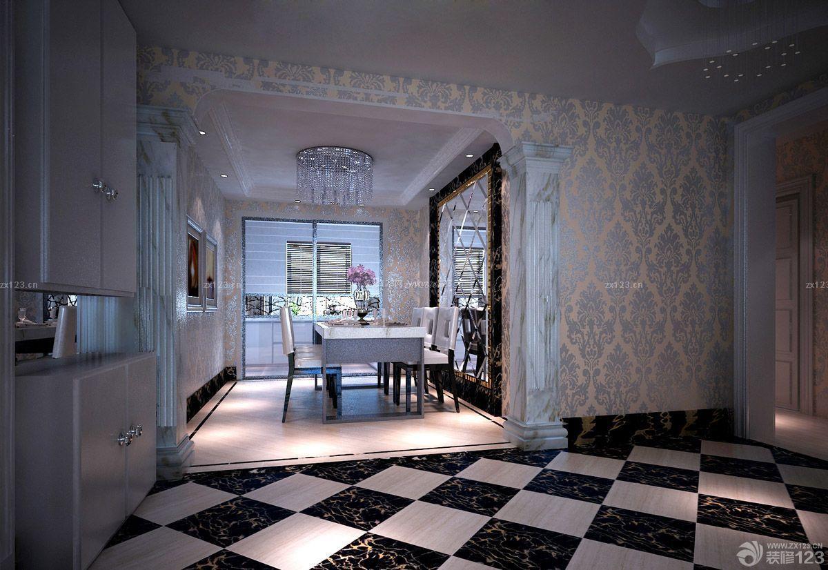 120平米房子新古典风格走廊入墙柜装修图片