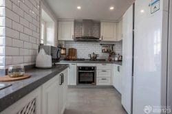 125平米戶型廚房櫥柜裝飾設計圖