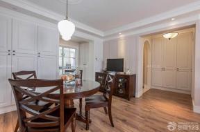125平米房子 美式装修风格 家庭餐厅图片