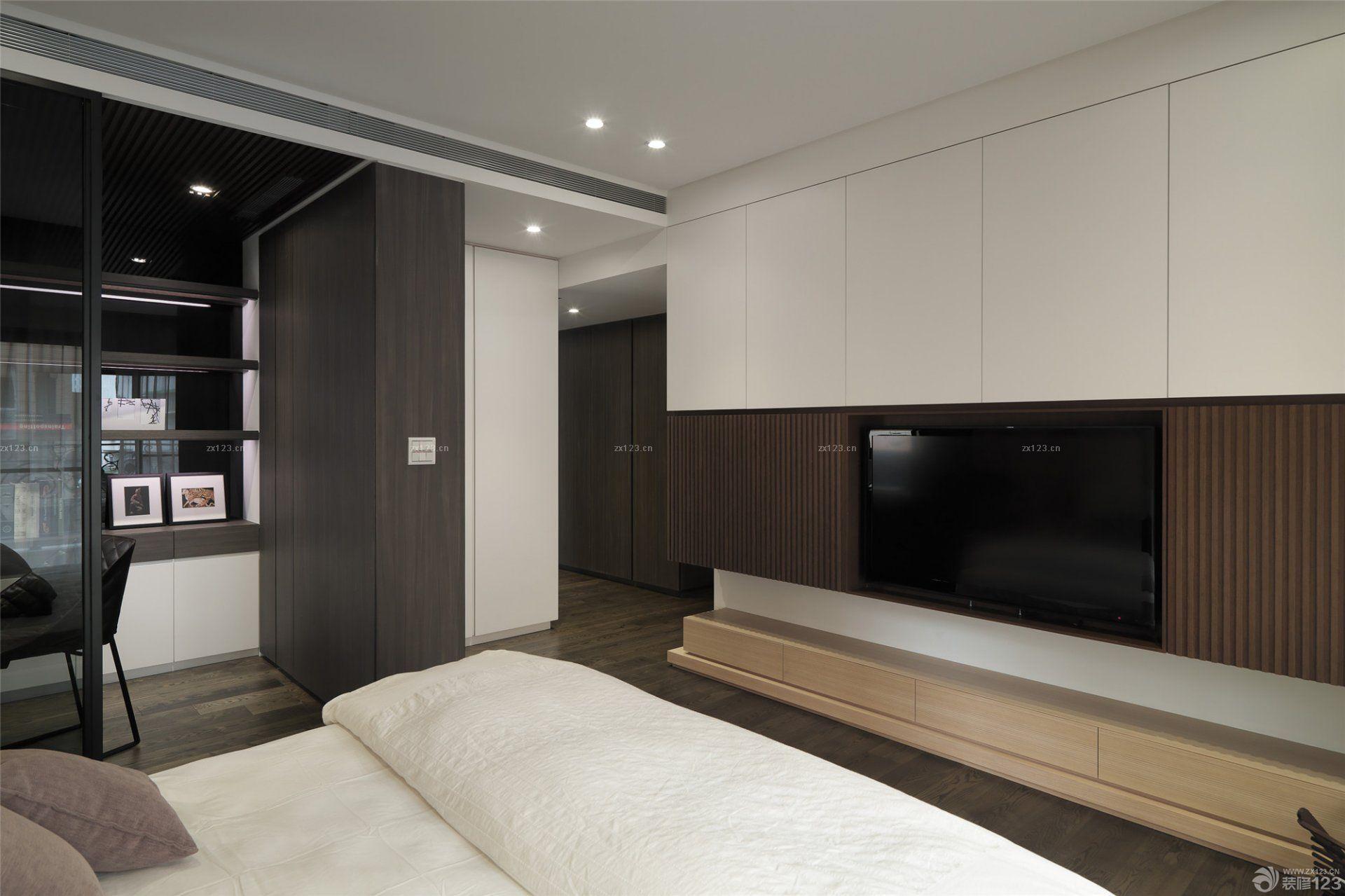 最新石膏板电视背景墙设计实景图