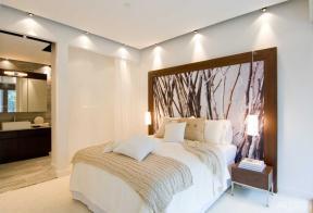主臥室設計 雙人床 床頭背景墻