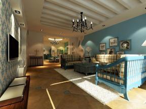 150平米 地中海家裝效果圖 客廳天花板吊頂