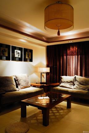中式裝修風格 室內客廳裝修圖