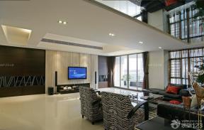 2014別墅裝修效果圖 現代客廳 客廳天花板吊頂