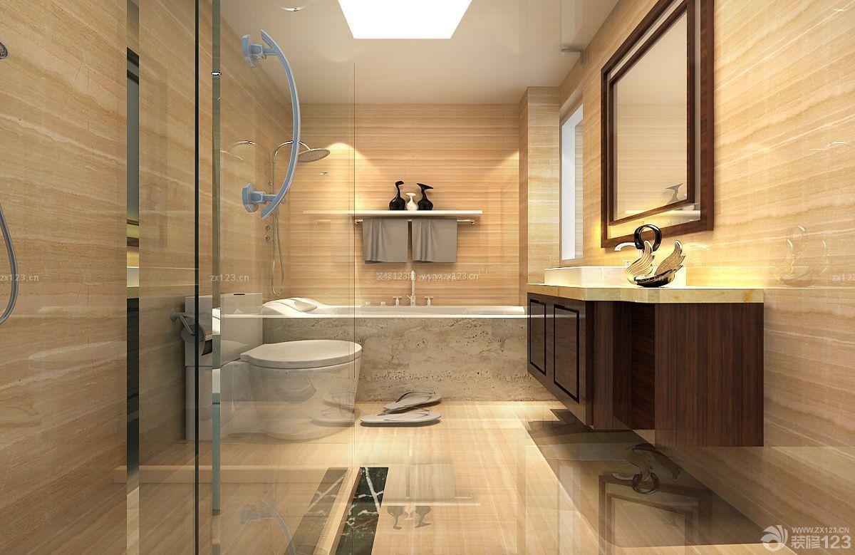 110平米2014浴室卫生间设计装修效果图