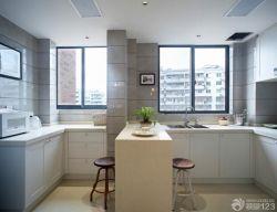 125平米房屋廚房吧臺櫥柜設計圖片