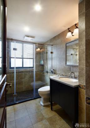 衛生間淋浴房效果圖 隔斷門 120平米