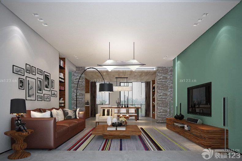 85平米简欧式客厅吊灯效果图_装修123效果图图片