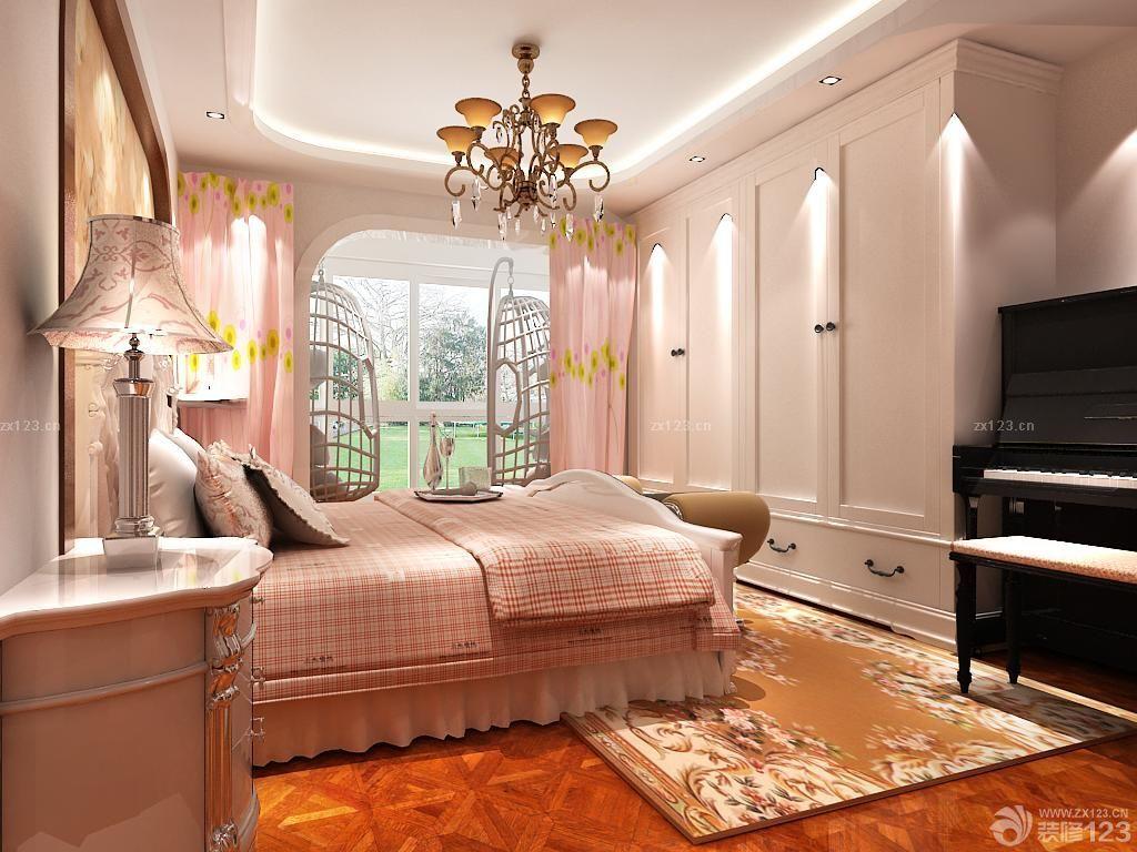欧式风格女生卧室衣柜门装修案例