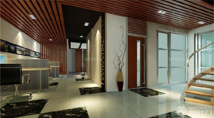 现代风格小型办公室木质吊顶图片