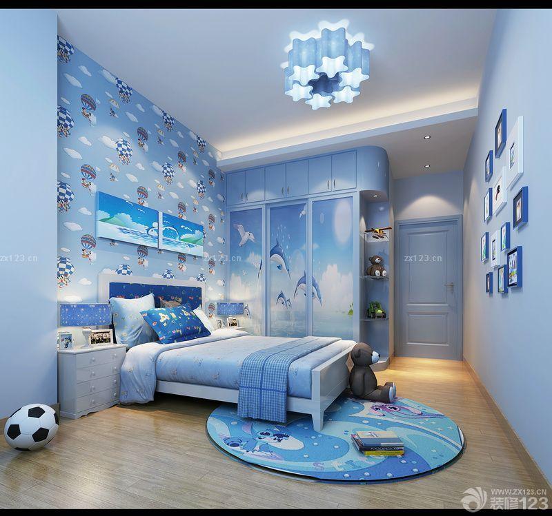 男生卧室照片墙设计图