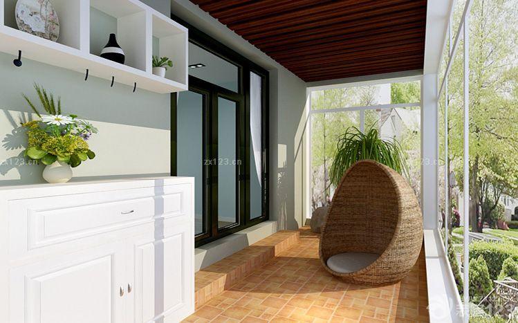 阳台木质吊顶设计图片